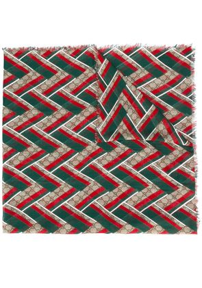 Gucci GG chevron scarf - Multicolour