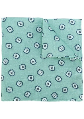 Fashion Clinic Timeless floral print pocket square - Green