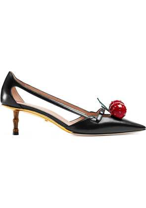Gucci Leather cherry pumps - Black