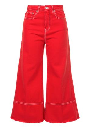 MSGM cropped flare jeans - Red
