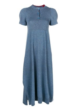 Barrie Halls of Ivy cashmere dress - Blue