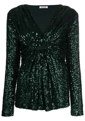 P.A.R.O.S.H. gathered sequin top - Green