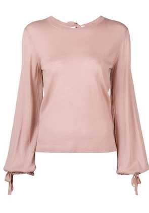 P.A.R.O.S.H. tie back blouse - Pink & Purple