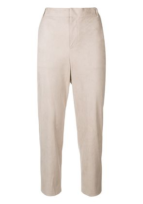 Knott SUEDE CROPPED PANTS - Nude & Neutrals