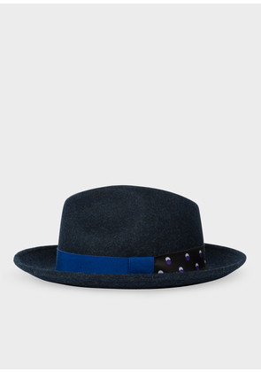 Women's Dark Navy Fedora Hat With 'Eclipse Spot' Headband