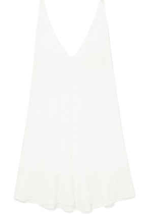 Skin - Bettina Voile-trimmed Cotton Nightdress - Ivory