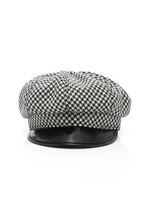 Eric Javits Carnaby Houndstooth Wool Cap
