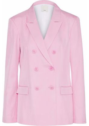 Tibi Woman Double-breasted Satin-faille Blazer Baby Pink Size 10