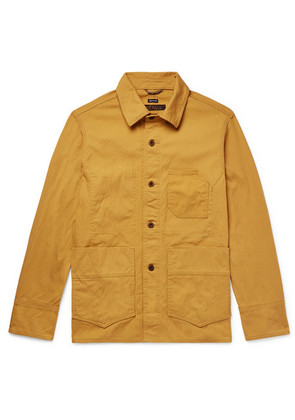 Freemans Sporting Club - Washed Cotton-canvas Jacket - Mustard