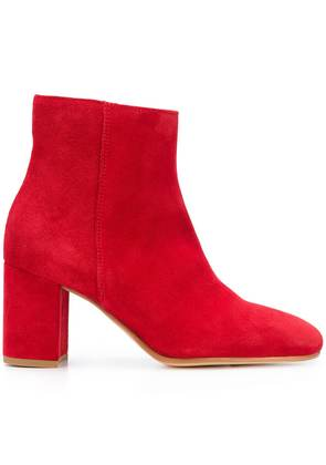 P.A.R.O.S.H. chunky heel ankle boots - Red