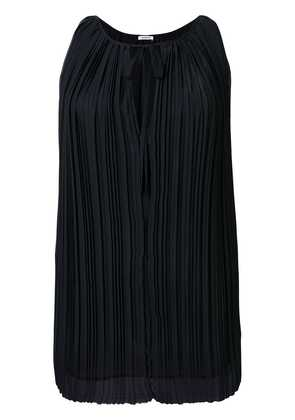 P.A.R.O.S.H. sleeveless pleated blouse - Black