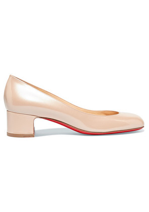 Christian Louboutin - Cadrilla 40 Patent-leather Pumps - Beige