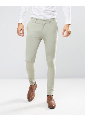 ASOS Wedding Super Skinny Suit Trousers In Sage - Sage green