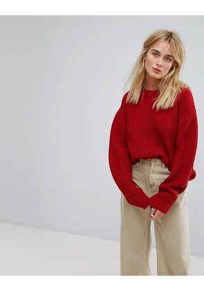Weekday Huge Knit Jumper - Bright red