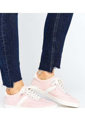 ASOS DELPHINE Stripe Lace Up Trainers - Pink