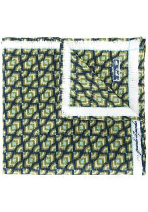 Fefè printed pocket square - Green