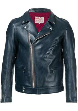 Addict Clothes Japan vintage style biker jacket - Blue