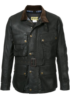 Addict Clothes Japan Waxed biker jacket - Black