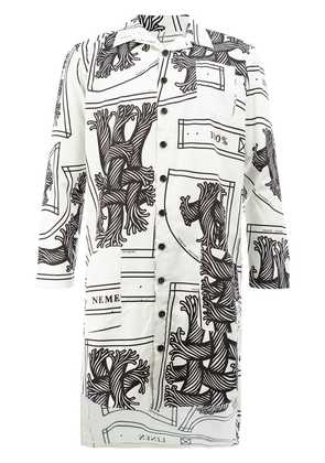 Christopher Nemeth long-line printed shirt - White