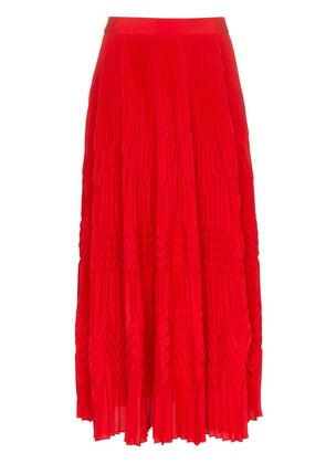 Givenchy high waist geometric pleated skirt - Red