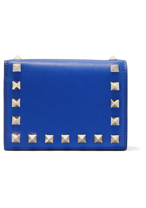 Valentino - Valentino Garavani The Rockstud Leather Wallet - Blue