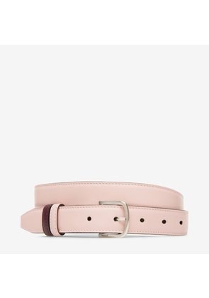 Bally Sofia 25Mm Pink, Women's plain calf leather fixed/reversible belt in dusty rose