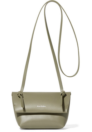 Acne Studios - Crossbody Mini Leather Shoulder Bag - Army green