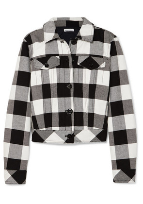 Tomas Maier - Cropped Checked Cotton-twill Jacket - Black