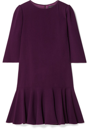 Dolce & Gabbana - Ruffled Stretch-cady Mini Dress - Grape