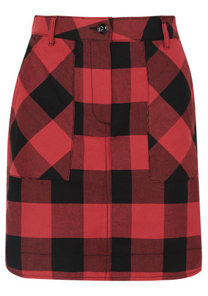 Tomas Maier - Checked Cotton Mini Skirt - Red