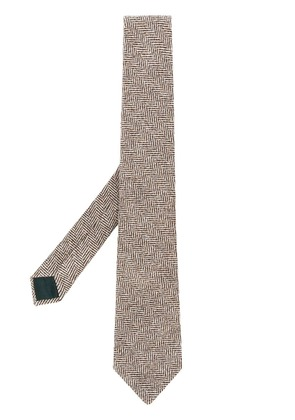 Holland & Holland knitted tie - Brown