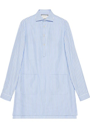 Gucci Cotton oversize shirt with pockets - Blue