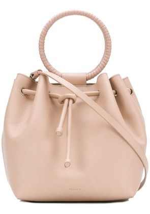 Theory wax cord hoop shoulder bag - Pink & Purple