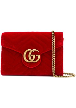 Gucci GG Marmont chain wallet - Red