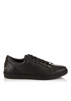 CASH Black Soft Leather Low Top Trainers
