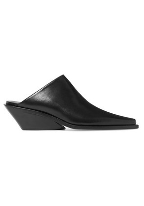 Ann Demeulemeester - Leather Mules - Black