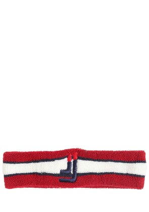 EMBROIDERED STRETCH TERRYCLOTH HEADBAND