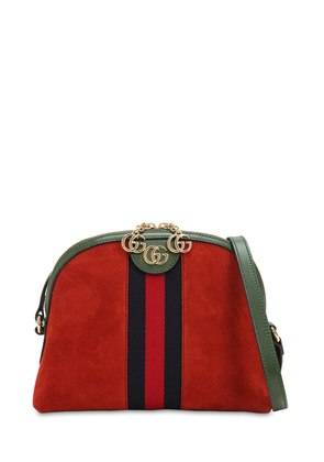 OPHIDIA SUEDE SHOULDER BAG