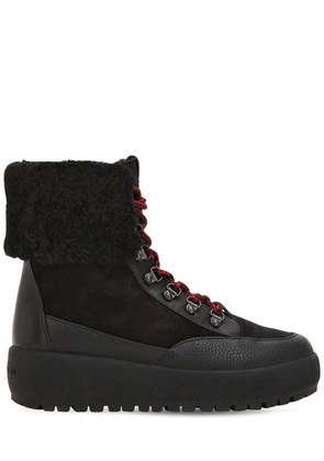 40MM TYLER SUEDE & LEATHER HIKING BOOTS