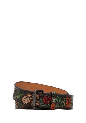 35MM ROSES VINTAGE LEATHER BELT
