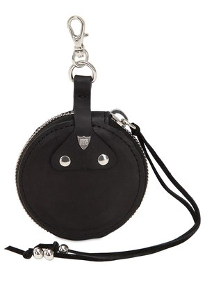 ROUND STUDS LEATHER COIN PURSE