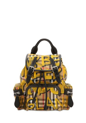 SMALL RUCKSACK GRAFFITI CANVAS BACKPACK