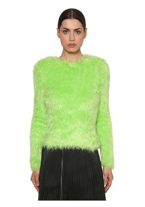 FAUX FUR SWEATER