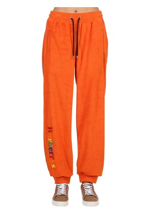 EMBROIDERED FRENCH TERRY SWEATPANTS