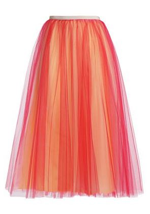 Valentino Woman Tulle Midi Skirt Red Size 40