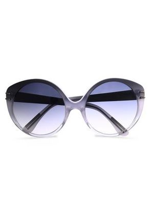 Roland Mouret Woman Round-frame Acetate Sunglasses Gray Size -