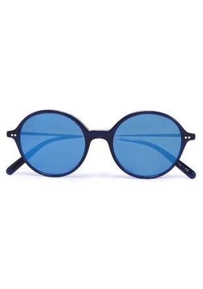 Oliver Peoples Woman Round-frame Acetate And Gold-tone Sunglasses Indigo Size -