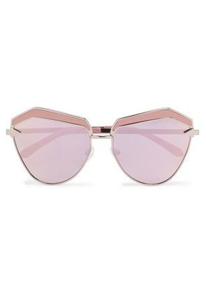 Karen Walker Woman Square-frame Rose Gold-tone And Acetate Sunglasses Pink Size -