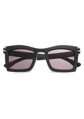 Roland Mouret Woman Square-frame Acetate Sunglasses Charcoal Size -