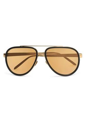 Linda Farrow Woman Aviator-style Acetate And Gold-tone Sunglasses Gold Size -